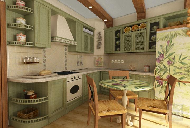 Кухня 10 кв.м. в стиле прованс