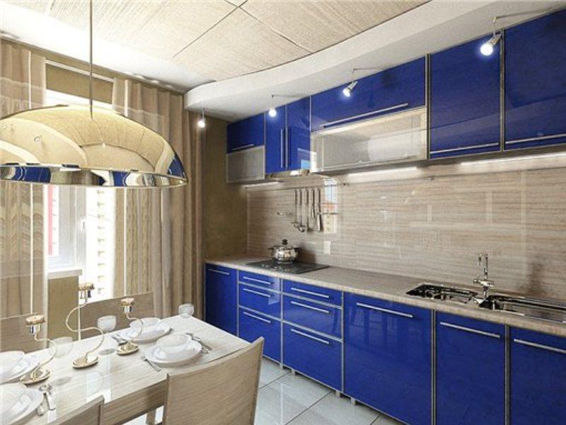 Кухонный гарнитур в дизайне кухни 10 кв.м