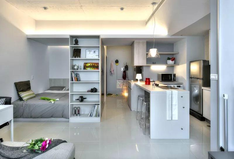 Лаконичный дизайн малогабаритной квартиры