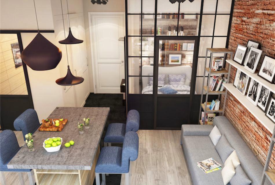 Малогабаритная квартира в стиле лофт