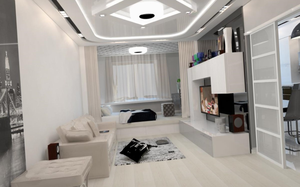 Малогабаритная квартира в стиле хай-тек