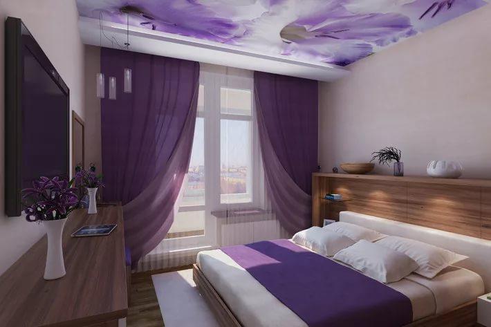 Мебель в спальне трехкомнатной квартиры