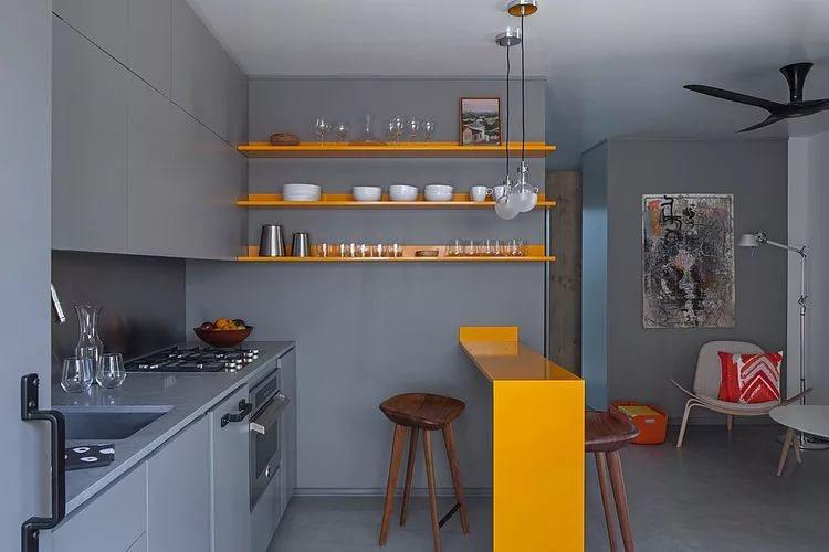 Мебель для совмещенной кухни в однокомнатной гостиной
