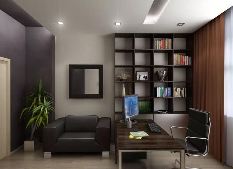 Меблировка рабочего кабинета в трехкомнатной квартире