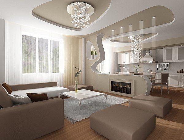 Многоуровневые потолки в малогабаритной квартире