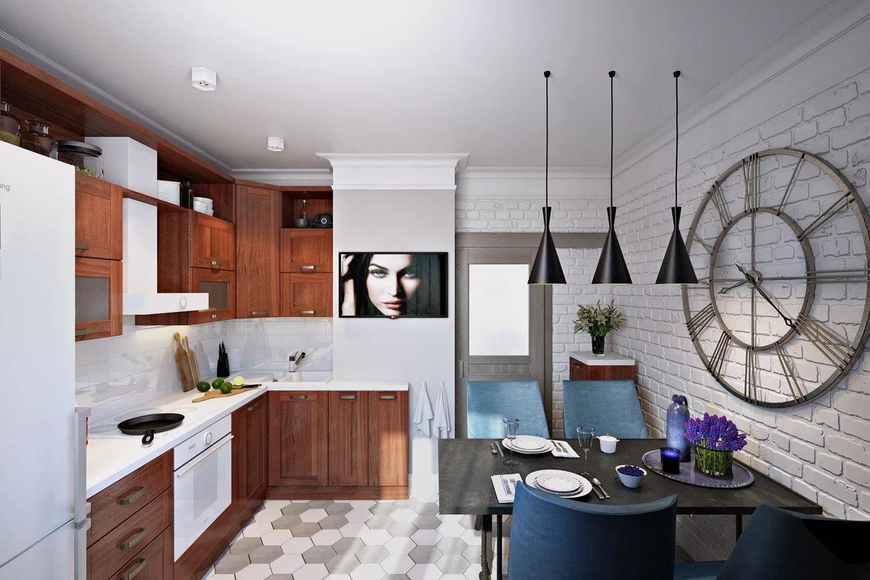 Оригинальной оформление кухни 10 кв.м