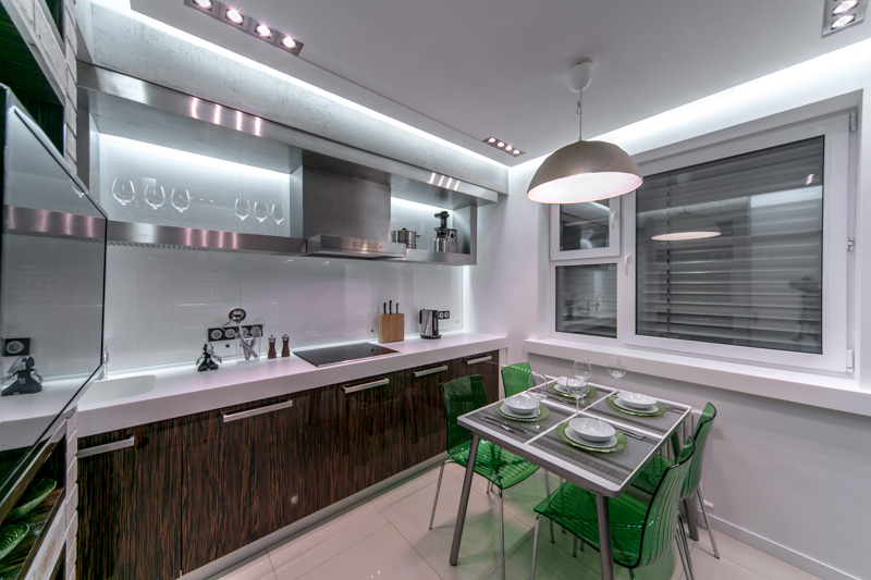 Освещение на кухне 10 кв.м.