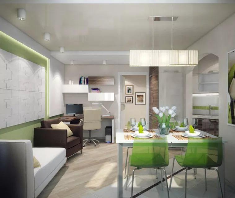 Освещение обеденной зоны в однокомнатной квартире