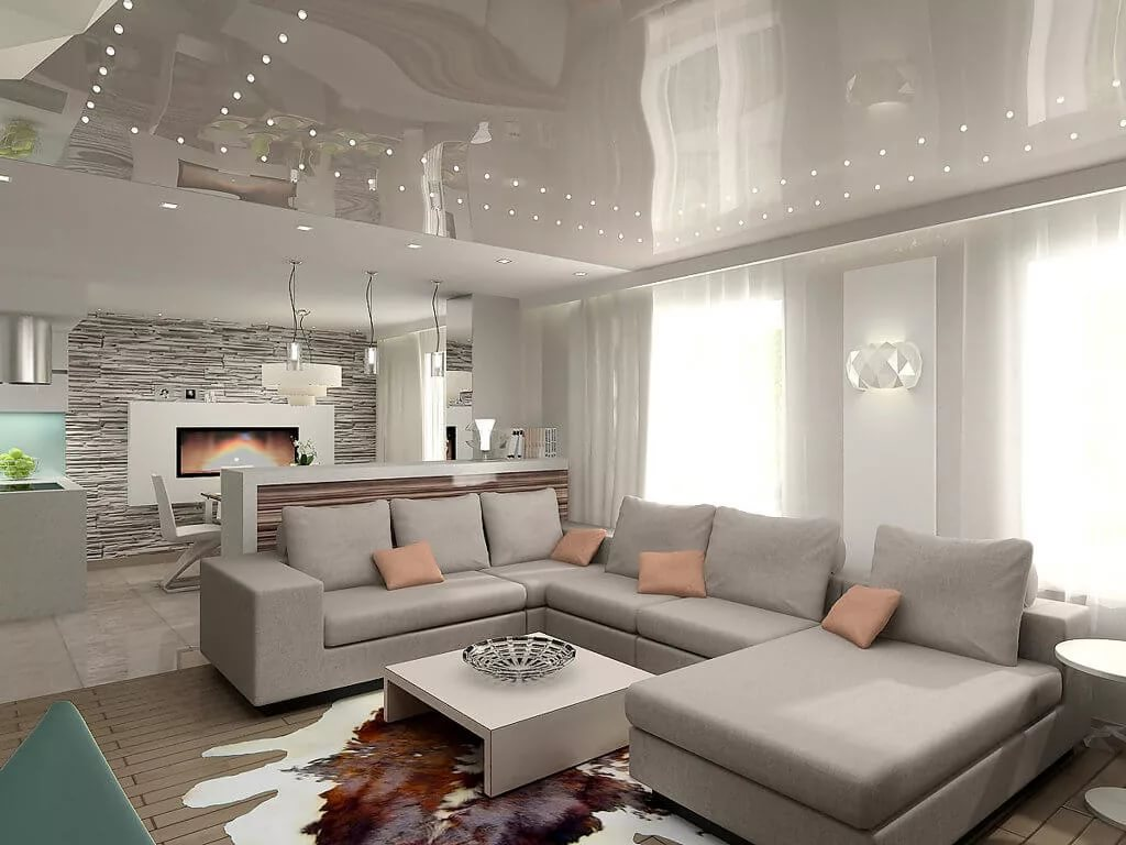 Оформлени квартиры-студии в серых тонах