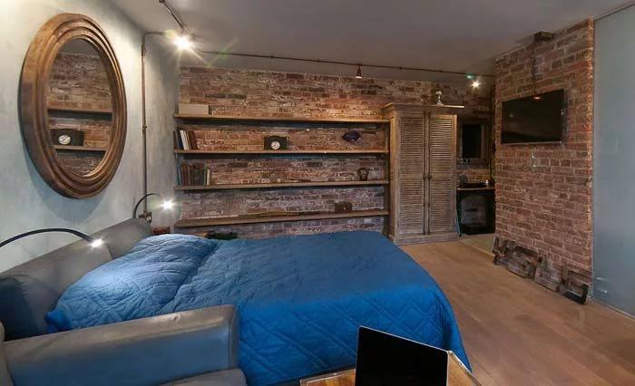 Полы в интерьере малогабаритной квартиры в стиле лофт