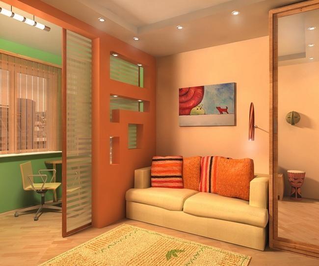 Раздвижные панели для зонирования малогабаритной квартиры