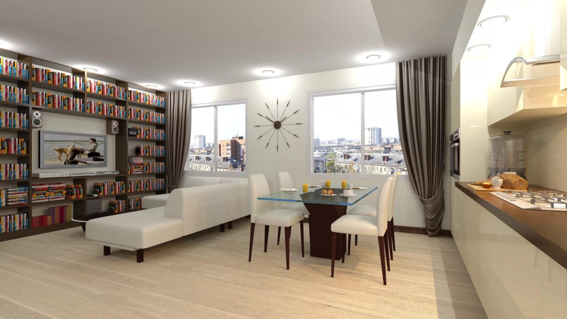 Размещение библиотеки в трехкомнатной квартире