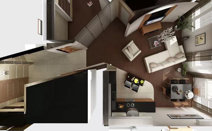 Разработка дизайна квартиры-студии