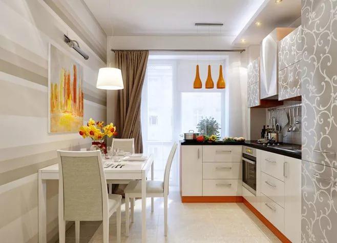 Расснановка мебели на кухне 10 кв.м