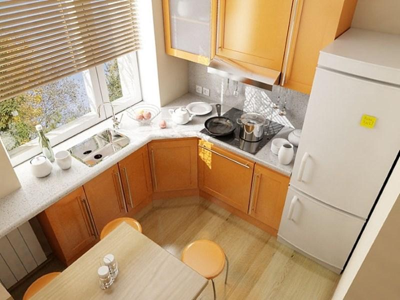 Рациональное использование подоконника на кухне в малогабаритной квартире