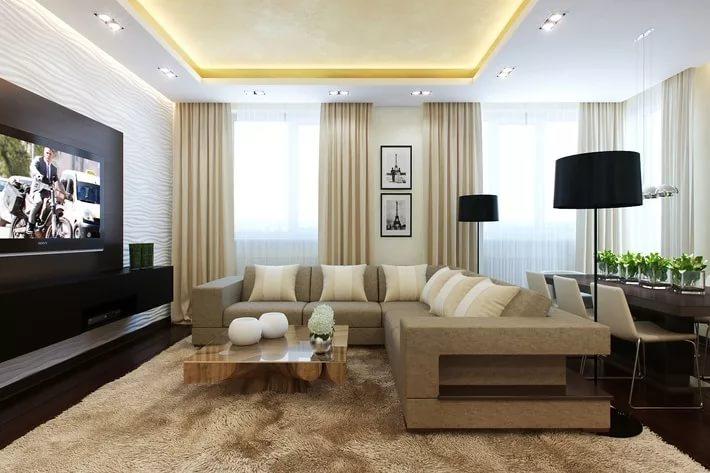 Современное оформление трехкомнатной квартире