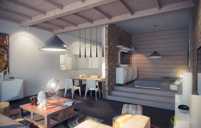 Стиль лофт в интерьере малогабаритной квартирыъ
