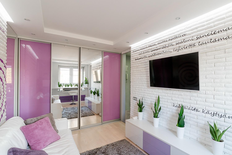 Точечные светильники в дизайне малогабаритной квартиры