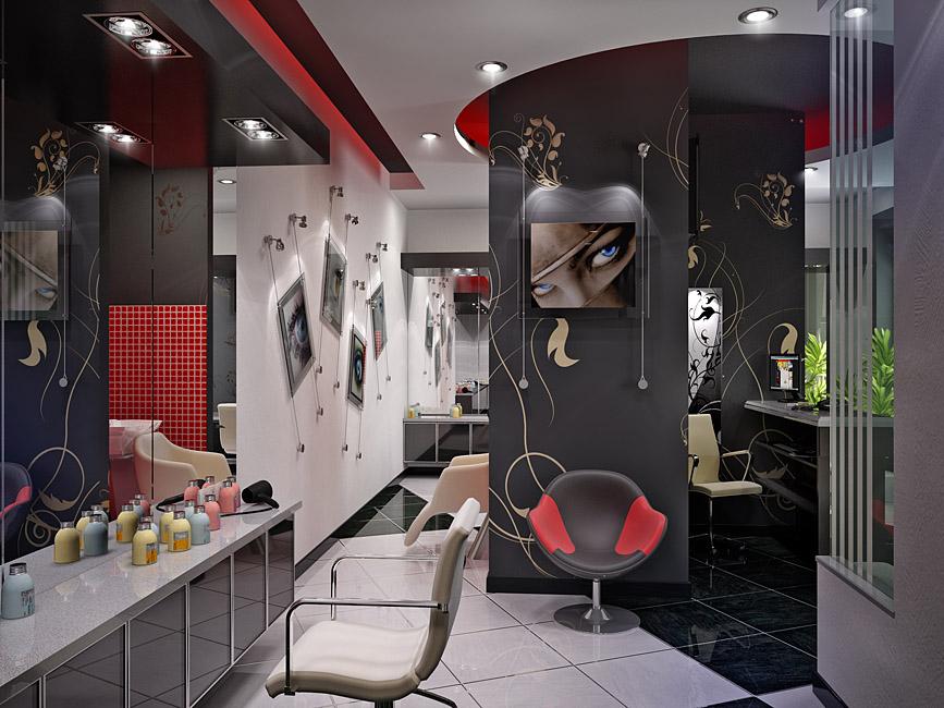 Уникальный дизайн салона красоты