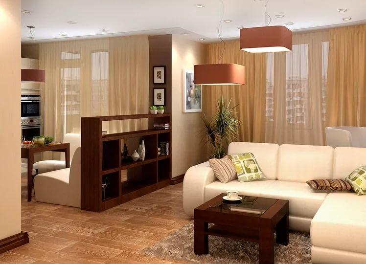 Функциональные зоны в трехкомнатной квартире