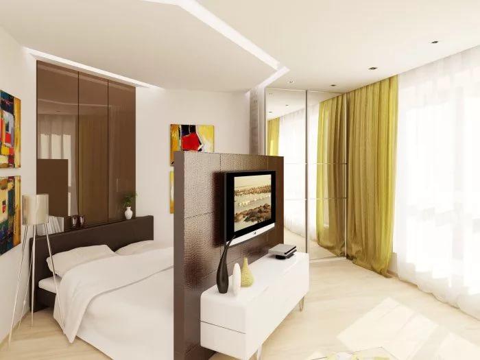 Частичные перегородки в дизайне трехкомнатной квартиры